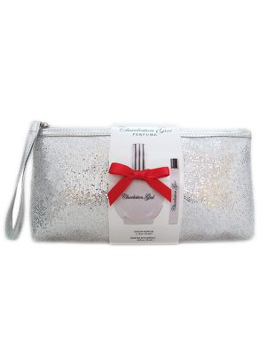 charleston girl perfume gift set with rollerball and wristlet